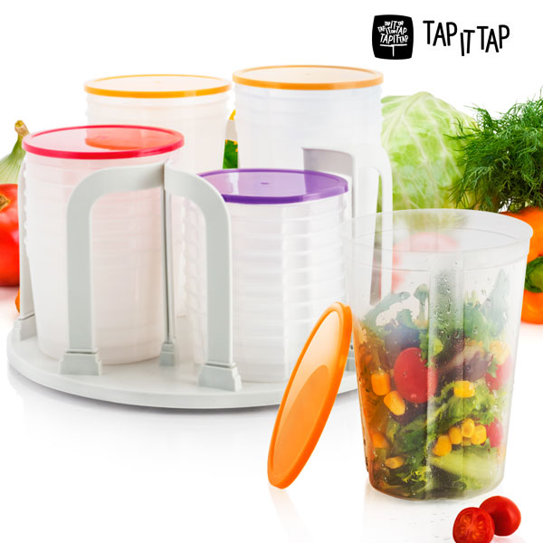 Lock Stock Spin Plastic Containers (49 pieces)