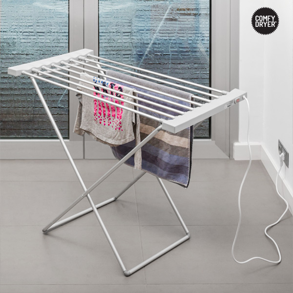 Heated Clothes Airer Thermic Dynamics Comfy Dryer Max 120W Grey (8 Bars)