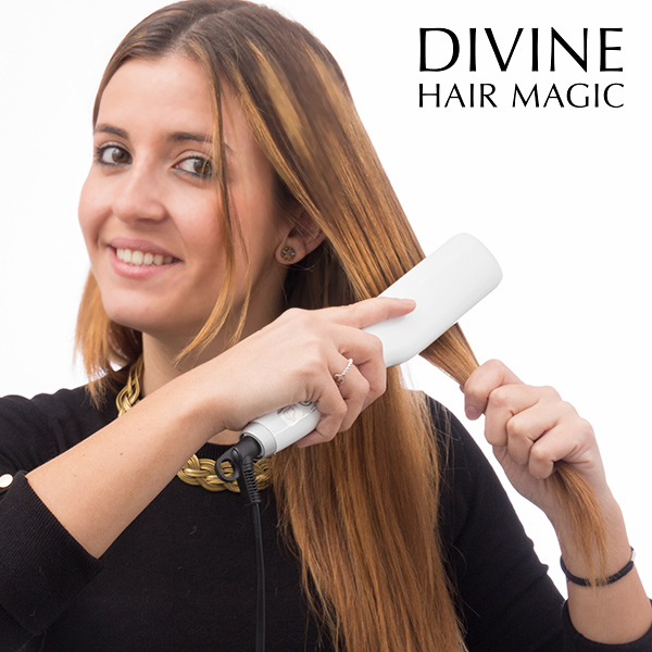 Divine Hair Magic Electric Straightening Hairbrush