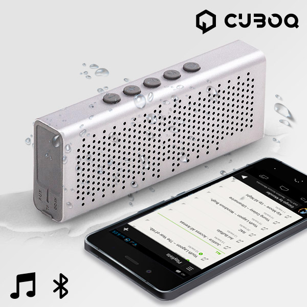 CuboQ Metal Waterproof Bluetooth Speaker