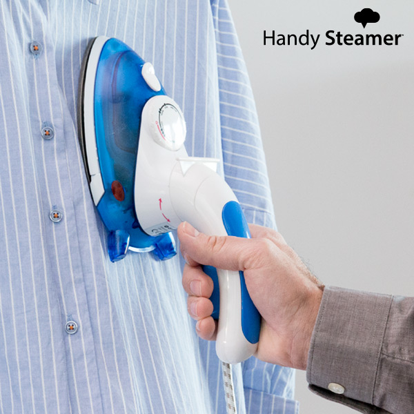 Mini Steam Iron with Brush Omnidomo Compact Iron & Steamer 0,05 L 800W White Blue