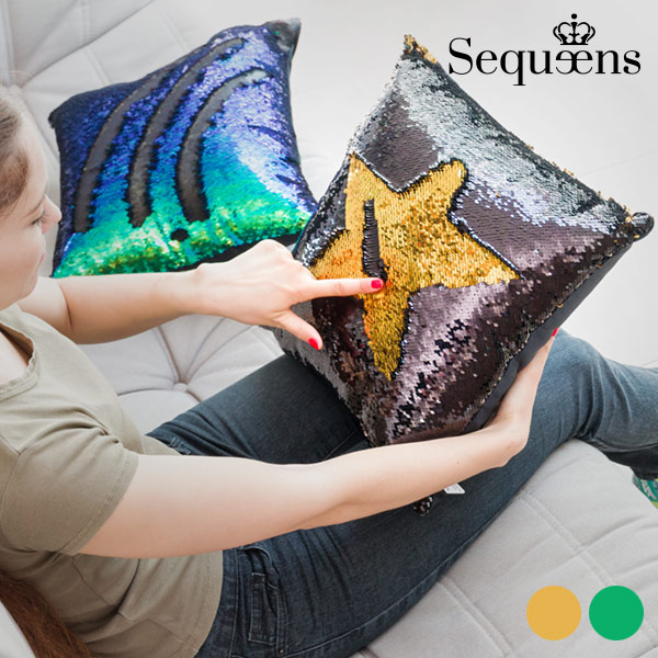 Mermaid Cushion With Magic Sequin Cover