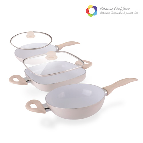 Ceramic Chef Pan Elegance Edition Frying Pans (5 pieces)
