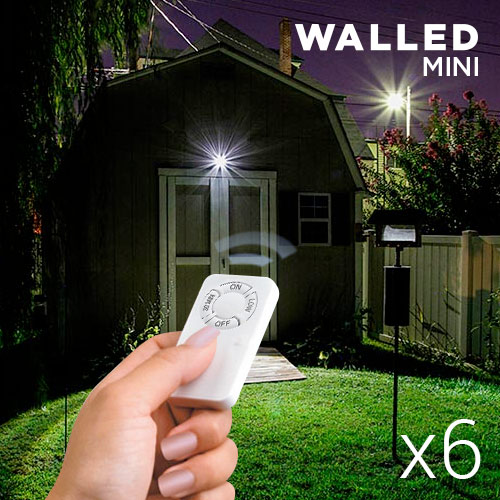 WalLED Mini LED Lamps with Remote Control (pack of 6)